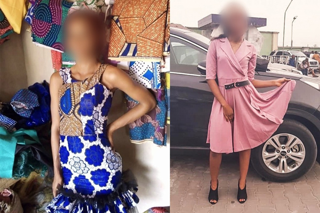Women returning from Dubai after being trafficked for sex from Nigeria